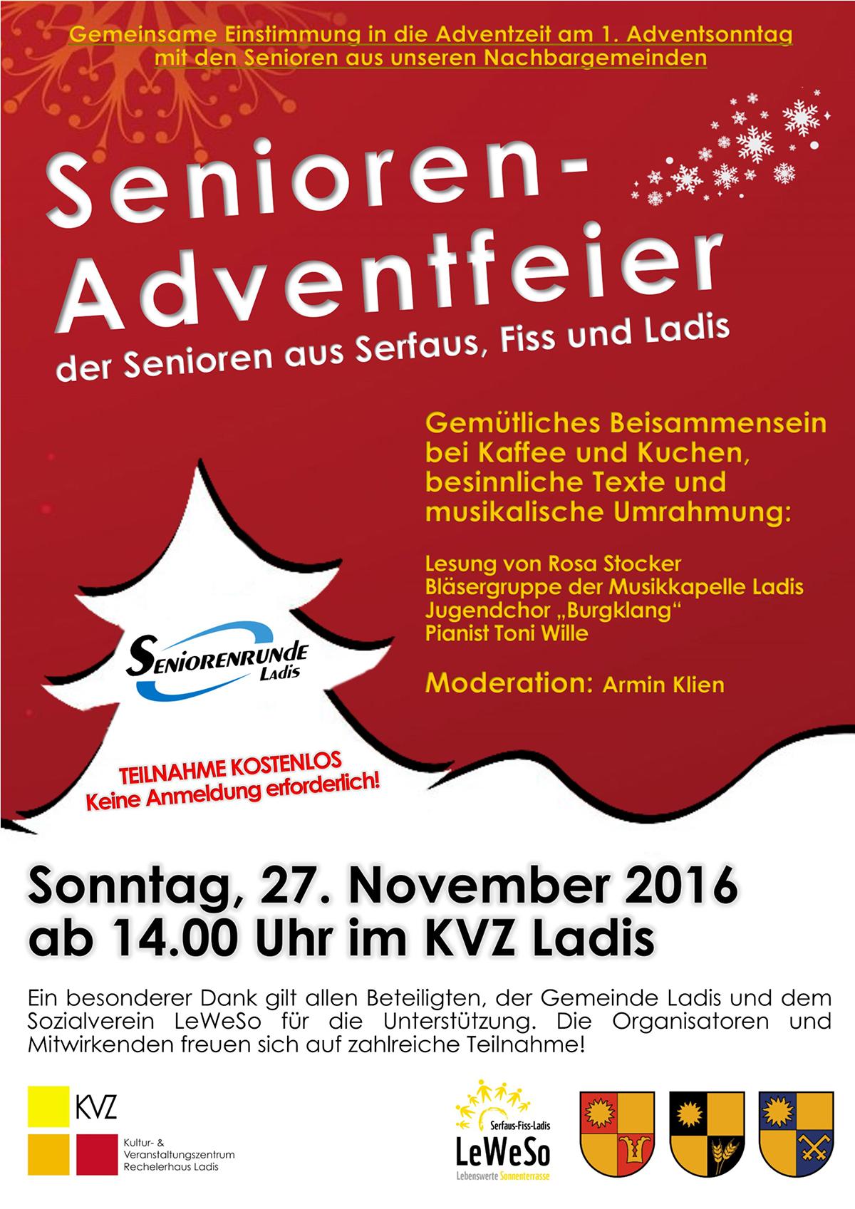Plakat Senioren-Adventfeier