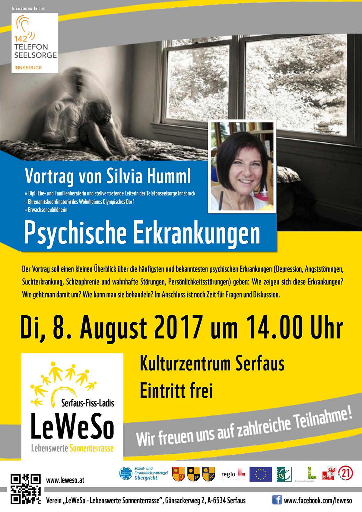 Plakat Vortrag Psychische Erkrankungen