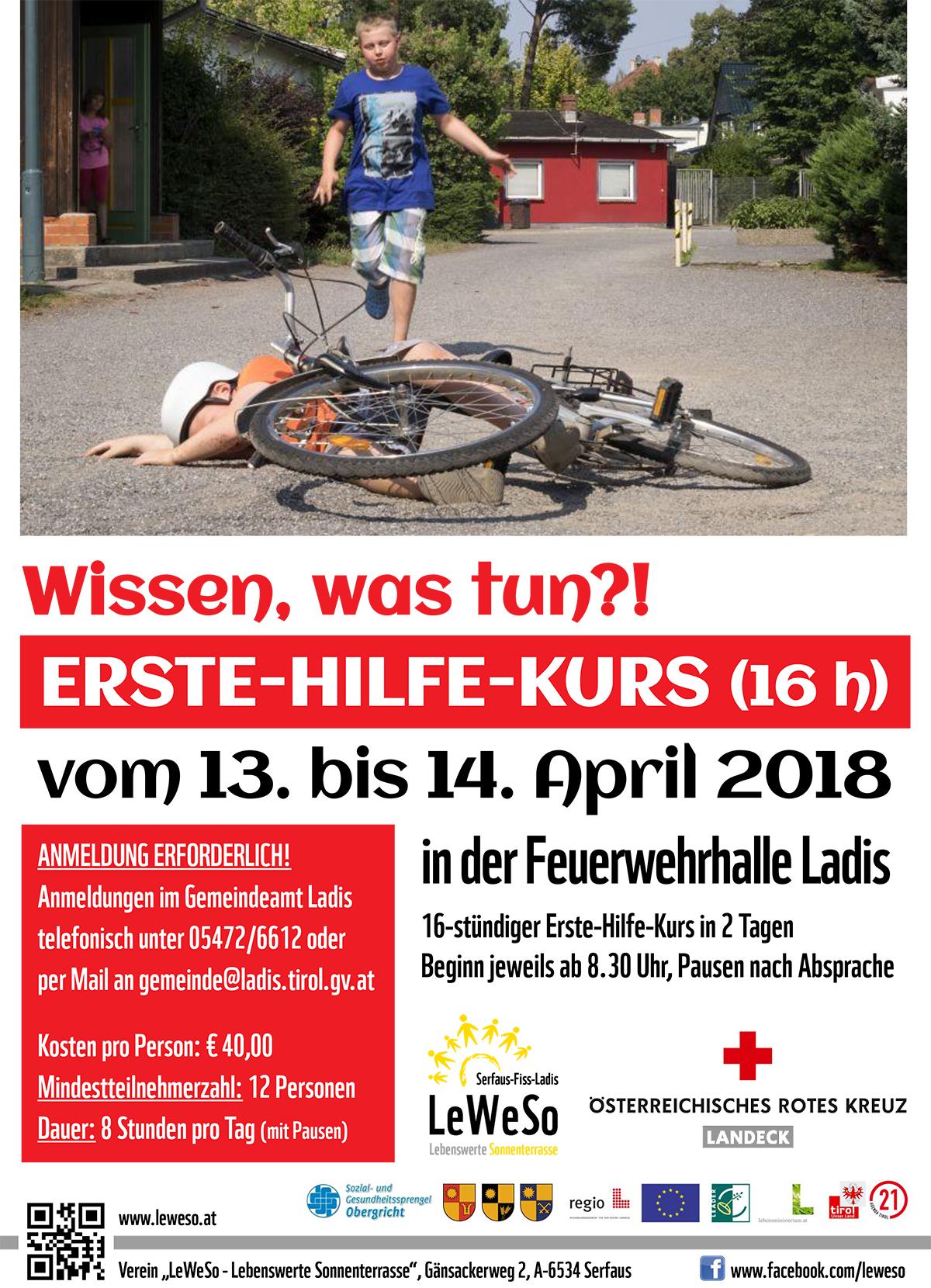 Plakat 16h-Erste-Hilfe-Kurs