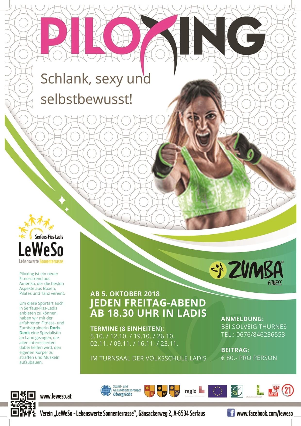 Plakat LeWeSo-Piloxing mit Doris Denk
